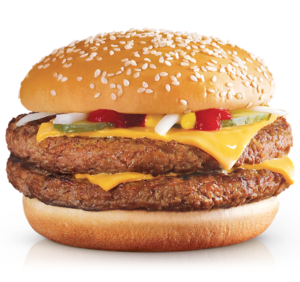 Double Quarter Pounder<sub class=reg>®</sub> with Cheese